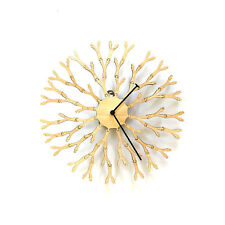 Dandelion - unique 'interactive' wall clock with natural wooden tone by ardeola