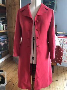 1960s Red Wool Coat