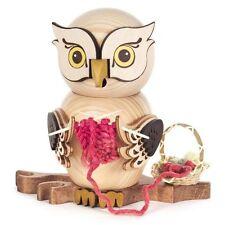 Crocheting Knitting Big Eyed Owl Made In Germany Incense Burner Smoker