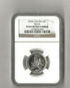 2004 s silver Texas statehood quarter NGC PF 69 Ultra Cameo