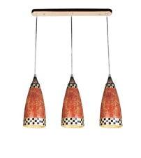 Checkered 3 Light Chandelier Checks Design Mackenzie Style Red Lamp Gold W/Black