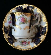 Antique Coalport Bats Wing Coffee Cup And Saucer,DEMI TASSE,CABINET CUP/SAUCER