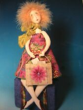 "ESTELLE~OFF TO GET HER GROOVE BACK~Cindee Moyer 2007 12"" cloth art doll pattern"