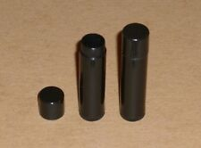 100 NEW Empty Black LIP BALM Chapstick Tubes containers WITH SHRINK BANDS!