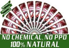 12x Natural Golecha Henna Tattoo Paste Kegel Cones, Rotbraun, Ohne Chemie, 300g