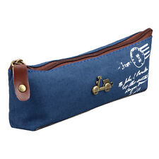 Vintage Pencil Case Bag Pen Pouch Purse Stationery Bag School Office Accessories