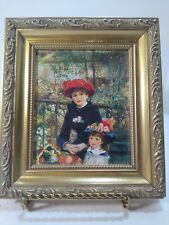 Framed Miniature Two Sisters (On the Terrace) Renoir Print 6 x 6