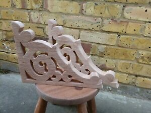 "Victorian Gingerbread Fretwork Brackets 8"" X 11 "" x 1"" Shelf Archway Corbel"