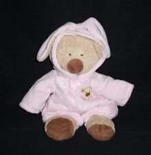 "12"" Ty Pluffies Pink Love To Baby Bear Bunny Removable PJs 2004 Stuffed Animal"