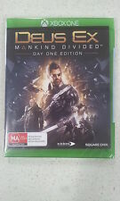 Deus Ex Mankind Divided Day One Edition Xbox One New & Sealed Australian Version