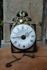mouvement d'horloge au coq trois cloches époque XVIII ème