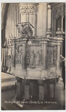 Isle of Wight; Pulpit, All Saints Church RP PPC Unused, c1910's