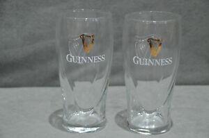 2x Genuine Original Guinness 450ml 16oz Beer Tulip Glass Christmas Gift New