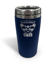 Geelong Cats AFL TRAVEL Coffee Mug Cup Double Wall Stainless Steel Xmas Gift