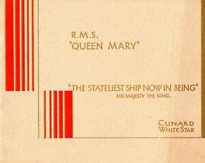 """1936 QUEEN MARY """"The Stateliest Ship Now In Being"""" - NAUTIQUES sHiPs WORLDWIDE"""