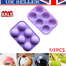 1/2X Semi Sphere Half Round Silicone Bakeware Mould Dome Chocolate Bombe Pan HOT