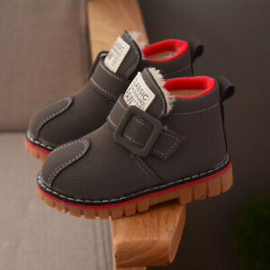 Baby Boys Girls Military Warm Fur Snow Boots Children Toddler Causal Ankle Boots