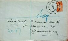 SOUTH AFRICA 1945 REGISTERED COVER WITH EPPING POSTMARK WITH TEXT REMOVED