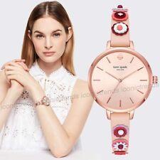 NWT🌺 Kate Spade KSW1463 Metro Western Flowers Rivet Vachetta Pink Leather Watch