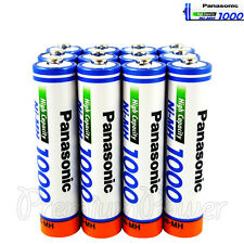 12 x Panasonic AAA batteries Ni-MH 1000 930 mAh Rechargeable High capacity HR03