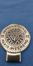 ALVIS INTERNATIONAL BRASS BADGE1993