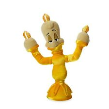 """BEAUTY & THE BEAST LUMIERE PLUSH 13"""" GENUINE AUTHENTIC DISNEY STORE PATCH NWT"""