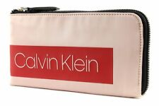 Calvin Klein Block Out Pouch Geldbörse Nude Rosa Rot Neu