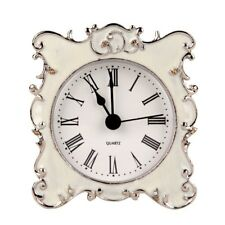 NIKKY HOME Pewter Pretty Small and Cute Table Clock with Quartz Analog Crystal R