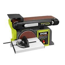 120-Volt 4.3 Amp Bench Belt/Disc Sander, 36 in. x  4 in. Wood Working Tool