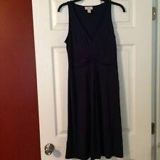 MUST SEE!! ANN TAYLOR LOFT DEEP PURPLE SLEEVELESS V-NECK DRESS!!  SZ 6