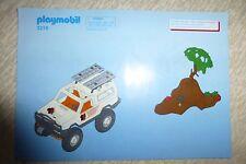 notice de montage playmobil N° 3219 : AVENTURIER AVEC 4X4 de 2003