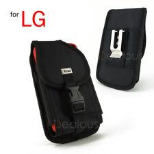 For LG K8 K10 G5 Heavy Duty Rugged Nylon Holster Pouch Case w/- FIT Bulky Case