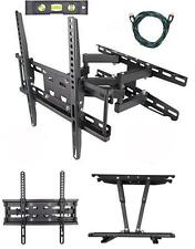 "Tv Wall Mount Bracket Dual Arm Articulating Swivel Lcd Led Full Motion 20""-55"