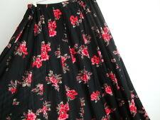 April Cornell Black Rose Skirt New XL Extra Large Vintage Romantic A-line NWT