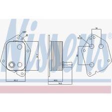 Nissens Ölkühler, Motoröl Hyundai, KIA 90721
