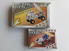 Metal Construction Kits Build Your Own Racing Car & Crane Lorry Childrens Toys