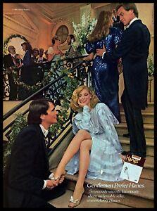 1982 Hanes Vintage Photo PRINT AD Ultra Sheer Pantyhose Party Cinderella 1980s