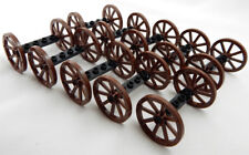 10 Sets of NEW LEGO WAGON WHEELS (20 tires/10 axles) vehicle 33 mm 1.25 in brown
