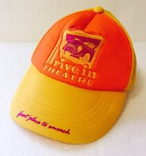 """Retro Hipster """"Hickey's Drive In Theatre"""" Mesh Trucker Hat Yellow - Smooch"""
