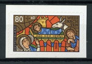 Germany Christmas Stamps 2019 MNH Nativity Stained Glass Weihnachten 1v S/A Set