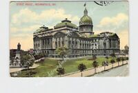 PPC POSTCARD INDIANA INDIANAPOLIS STATE HOUSE EXTERIOR STREET VIEW