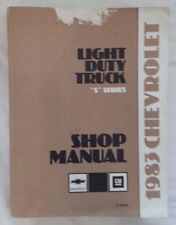 1983 Light Duty Truck S Series ST36983 GM Shop Service Manual + Revised Manual