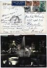 2055 - Repubblica - Siracusana su cartolina via aerea per Brasile, 1956