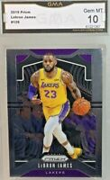 Gem Mint 10: 2019 Lebron James, Panini Prizm Card #129, Lakers