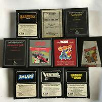 Atari 2600 10 Game Bundle / Cart & Manual / 7800 / Smurf Spider-Man Venture #5