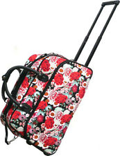"Women's Floral Print 21"" Rolling Duffel Bag Suitcase Garment Carry-on Duffel Bag"