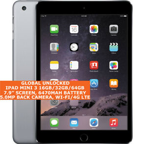 "APPLE IPAD MINI 3 16gb/32gb/64gb Dual-cor 7.9"" Fingerprint Ios 12 Wi-Fi / Lte"