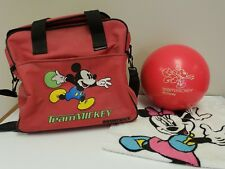 Disney Mickey Mouse Brunswick Bowling Ball Team Mickey 8 Pounds - Drilled w/ Bag