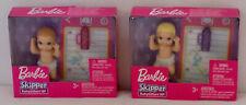 2 Babies Barbie Skipper Babysitters Inc w/ Accessories Blonde & Light Brown Nip
