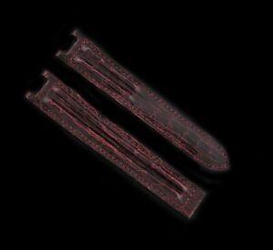 Cartier Pasha 20mm x 17mm Burgundy Maroon Alligator Leather Watch Strap OEM NEW